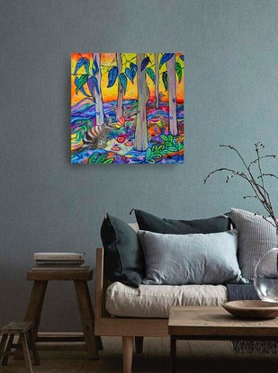 (CreativeWork) Numbats  by Katerina Apale. Acrylic Paint. Shop online at Bluethumb.