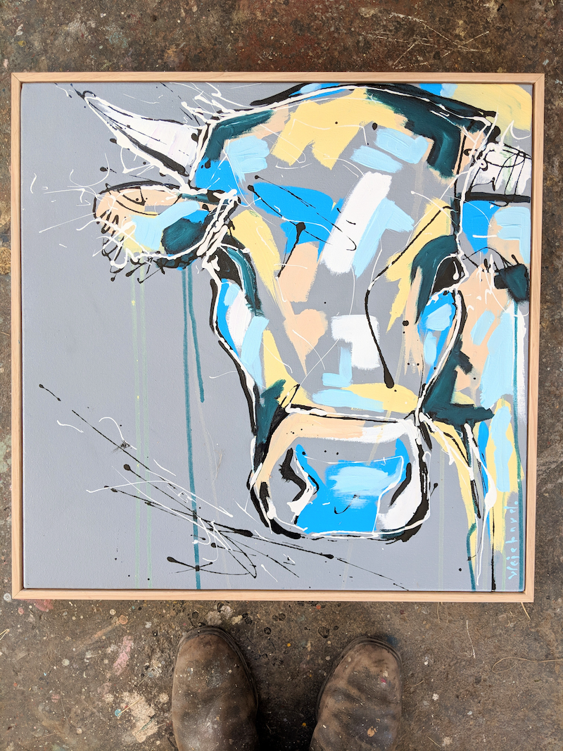 (CreativeWork) Stanley by Aidan Weichard. mixed-media. Shop online at Bluethumb.
