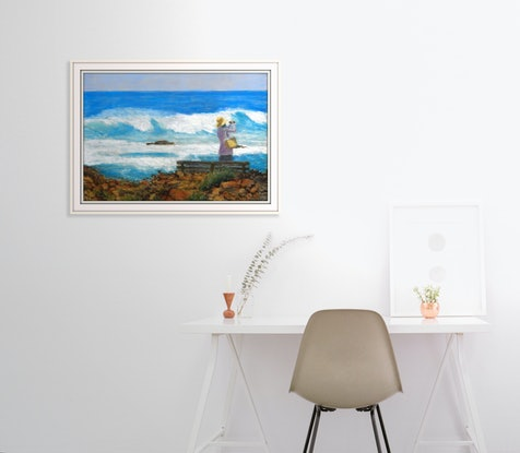 (CreativeWork) Coastline Yallingup, WA,  Aus. by Anne Huth. Drawings. Shop online at Bluethumb.