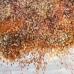 (CreativeWork) Fireworks of Petals  by Theo Papathomas. oil-painting. Shop online at Bluethumb.
