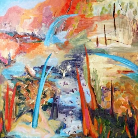 (CreativeWork) Ambiguous Clarity by Jenny Hines. Oil Paint. Shop online at Bluethumb.
