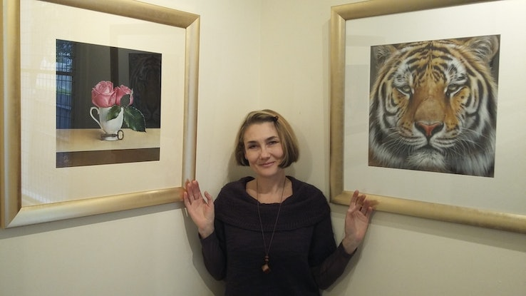 """(CreativeWork) """"Faces of the wild - Amur Tiger"""" Ed. 2 of 100 by Elena Kolotusha. #<Filter:0x00007fcaf31fd658>. Shop online at Bluethumb."""