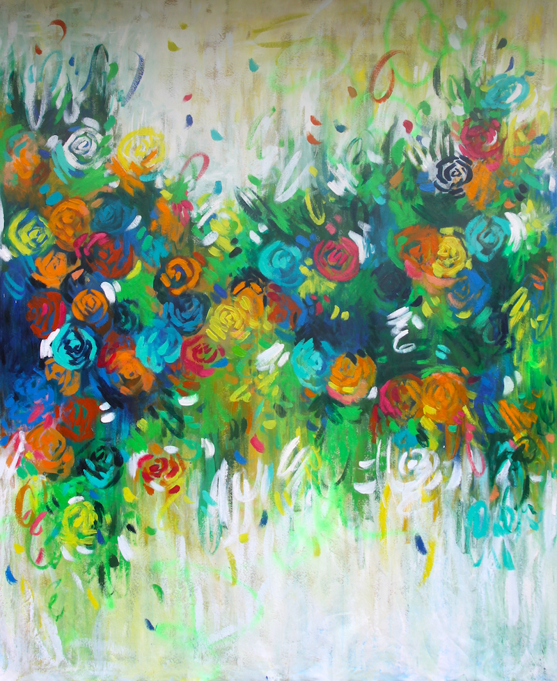 (CreativeWork) Sunshine In The Hamptons  by Belinda Nadwie. oil-painting. Shop online at Bluethumb.