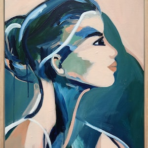 (CreativeWork) Poolside by Marnie McKnight. arcylic-painting. Shop online at Bluethumb.