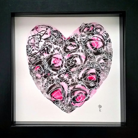 (CreativeWork) About Love - Rose Heart 1 by Olga Kolesnik. Drawings. Shop online at Bluethumb.