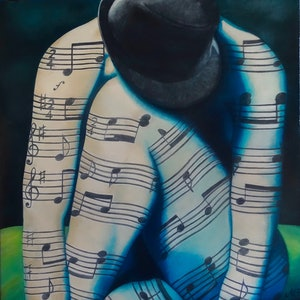 (CreativeWork) body of music by Monika Feuerstein. oil-painting. Shop online at Bluethumb.