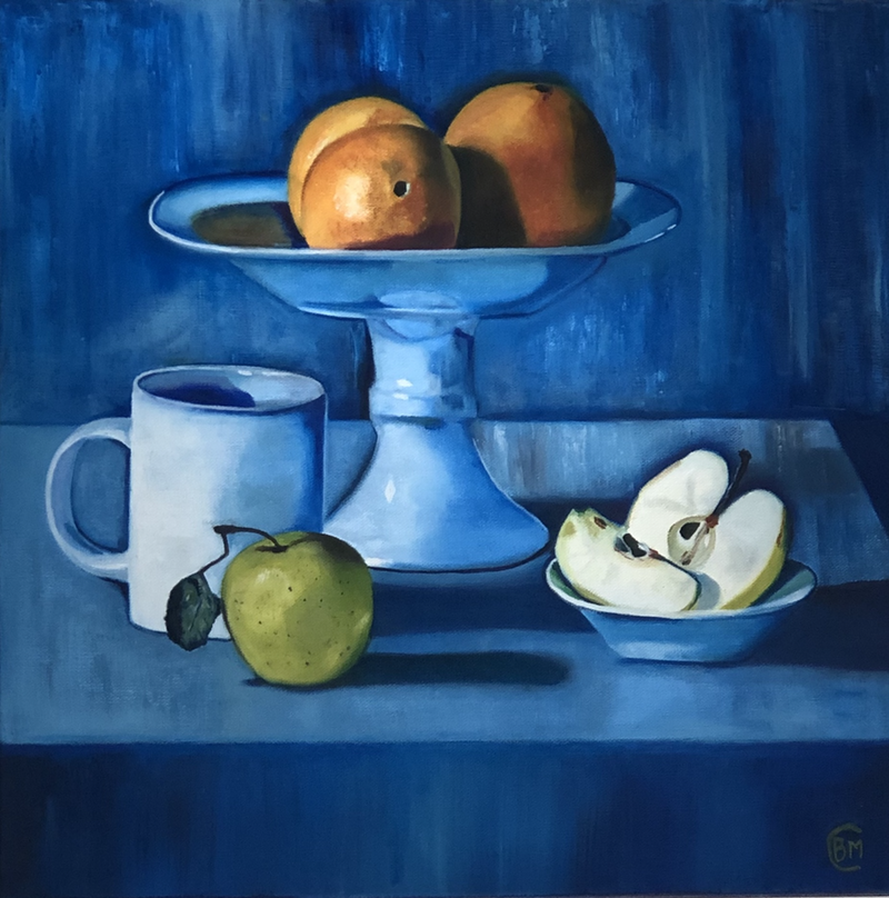 (CreativeWork) Feeling Blue by Bernadette McConville. Oil Paint. Shop online at Bluethumb.