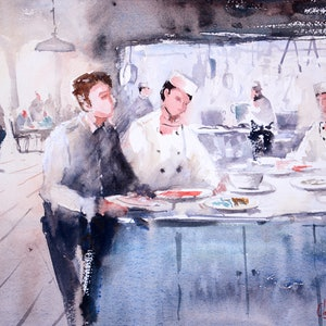 (CreativeWork) Working the Pass by Chrysovalantou Mavroudis. watercolour. Shop online at Bluethumb.