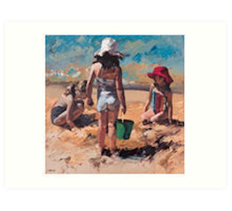 (CreativeWork) Sandcastles VII Limited Edition Giclee  Ed. 2 of 50 by Claire McCall. #<Filter:0x00007f7bb11c3ac0>. Shop online at Bluethumb.