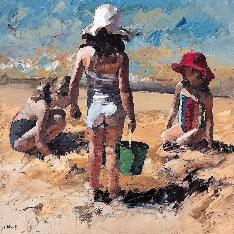 (CreativeWork) Sandcastles VII Limited Edition Giclee  Ed. 2 of 50 by Claire McCall. print. Shop online at Bluethumb.