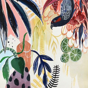 (CreativeWork) Fruits of the Rainforest by Sally Browne. watercolour. Shop online at Bluethumb.