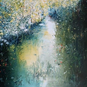"""(CreativeWork) Impressionism /Abstract -  """"Serenity  """" by Maria Cross. arcylic-painting. Shop online at Bluethumb."""