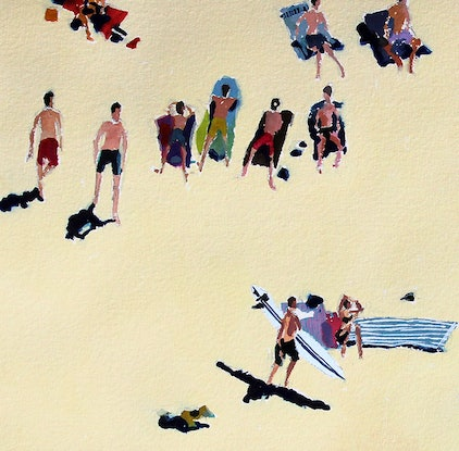 (CreativeWork) Summer Days by Tim O'Shea. Watercolour. Shop online at Bluethumb.