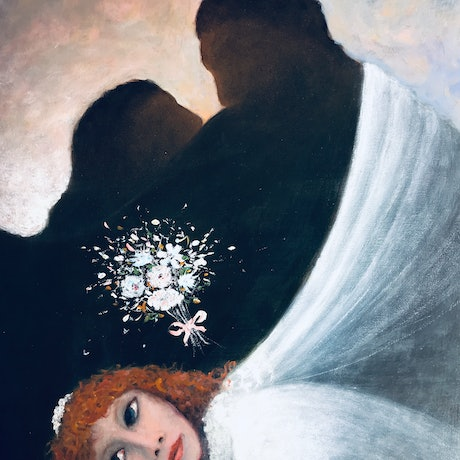 (CreativeWork) Bride casting a Spell by Howard Sparks. Oil Paint. Shop online at Bluethumb.