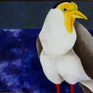 (CreativeWork) MASKED LAPWING by Johanna Hildebrandt. acrylic-painting. Shop online at Bluethumb.