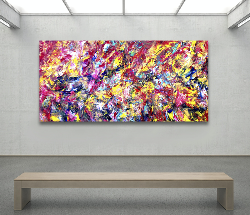 (CreativeWork) Efflorescence by Estelle Asmodelle. acrylic-painting. Shop online at Bluethumb.