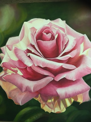 (CreativeWork) A tribute to pink roses Ed. 2 of 50 by Myriam Malengret. Print. Shop online at Bluethumb.