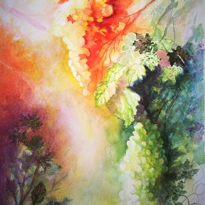 (CreativeWork) Sunshine Vintage by Lucinda Leveille. watercolour. Shop online at Bluethumb.