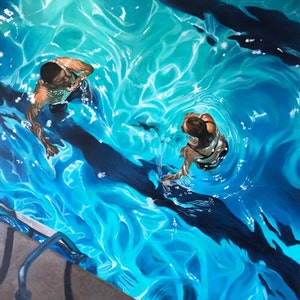(CreativeWork) Swimming Pool - Limited Edition Print Ed. 1 of 50 by Amanda Cameron. print. Shop online at Bluethumb.