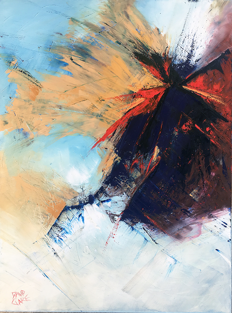 (CreativeWork) Splat by David Clare. Oil Paint. Shop online at Bluethumb.