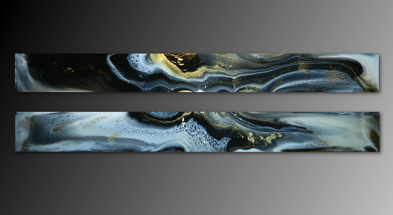 (CreativeWork) YIN & YANG - Original Abstract Resin Art Panels  by Deborah O'Loughlin. resin. Shop online at Bluethumb.