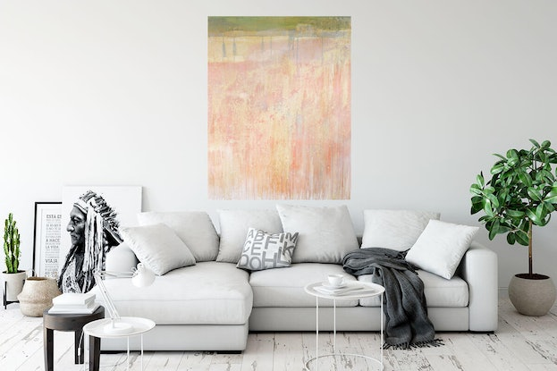 (CreativeWork)  Wallmatter 4  (Framed)  Abstract Painting. Contemporary . Modern. Acrylic & Shellac by Jenny Davis. Acrylic Paint. Shop online at Bluethumb.