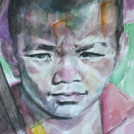 (CreativeWork) Meditation Art -Shade by Kenneth Chu. Watercolour Paint. Shop online at Bluethumb.