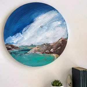 (CreativeWork) Memories of Shoal Bay by Marnie McKnight. arcylic-painting. Shop online at Bluethumb.