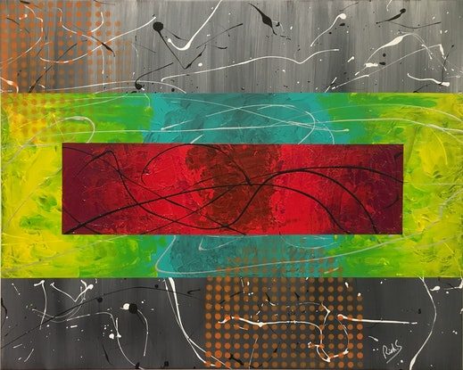 (CreativeWork) LAYERS by Rick Smith. Acrylic Paint. Shop online at Bluethumb.