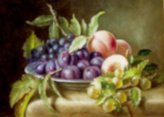 "(CreativeWork) ""Fruit and berries."" by Jos Kivits. Oil Paint. Shop online at Bluethumb."