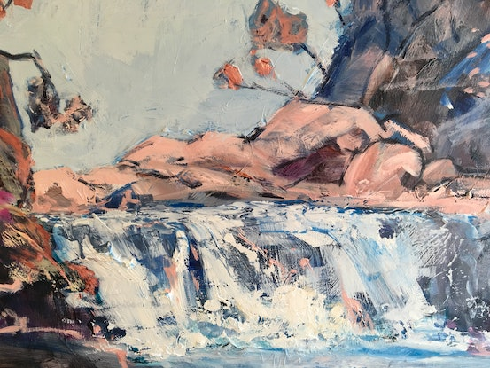 (CreativeWork) It's a Waterfall by Meredith Howse. Acrylic Paint. Shop online at Bluethumb.