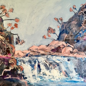 (CreativeWork) It's a Waterfall by Meredith Howse. arcylic-painting. Shop online at Bluethumb.