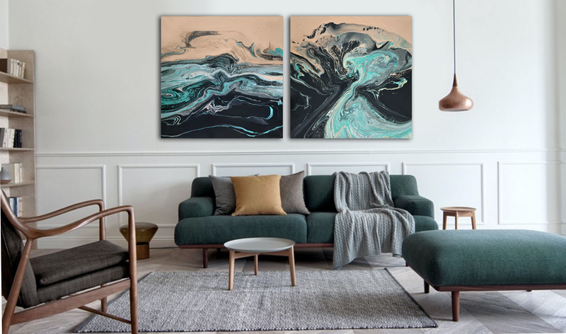 (CreativeWork) Maelstrom by Brigitte Ackland. arcylic-painting. Shop online at Bluethumb.