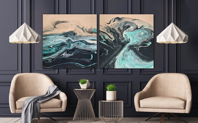 (CreativeWork) Maelstrom by Brigitte Ackland. Acrylic Paint. Shop online at Bluethumb.