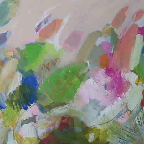 (CreativeWork) Floating by Kate Owen. Acrylic Paint. Shop online at Bluethumb.