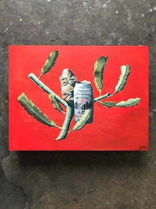 (CreativeWork) Give That Plant An Asahi by Pitok Art. Other Media. Shop online at Bluethumb.