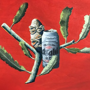 (CreativeWork) Give That Plant An Asahi by Pitok (John). other-media. Shop online at Bluethumb.