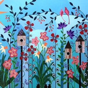 (CreativeWork) Can't Wait Til Spring - very large by Lisa Frances Judd. acrylic-painting. Shop online at Bluethumb.