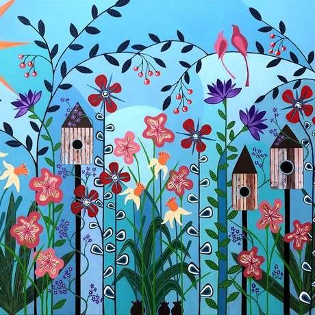 (CreativeWork) Can't Wait Til Spring - very large by Lisa Frances Judd. Acrylic Paint. Shop online at Bluethumb.