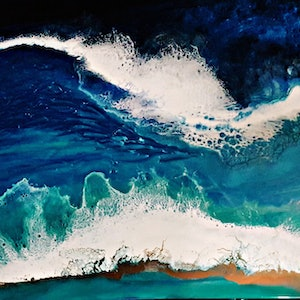 (CreativeWork) Bombshell Waves by Simonne Moodie. resin. Shop online at Bluethumb.