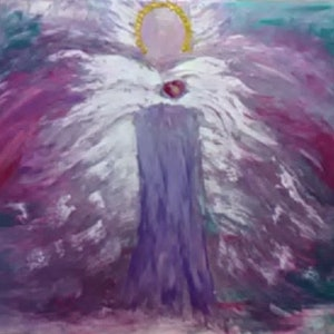 (CreativeWork) Angel Heart by Alison Duke. acrylic-painting. Shop online at Bluethumb.