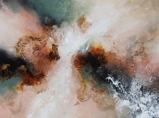 (CreativeWork) Earth Shattering by Sue Dyde. Mixed Media. Shop online at Bluethumb.