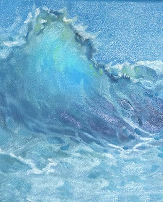 (CreativeWork) Water Feature Three by Donna Christie. Oil Paint. Shop online at Bluethumb.