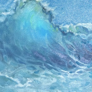 (CreativeWork) Water Feature Three by Donna Christie. oil-painting. Shop online at Bluethumb.