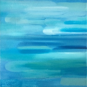 (CreativeWork) Water Feature Six by Donna Christie. oil-painting. Shop online at Bluethumb.