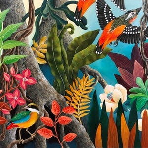 (CreativeWork) TROPICAL VIBES by Johanna Hildebrandt. arcylic-painting. Shop online at Bluethumb.