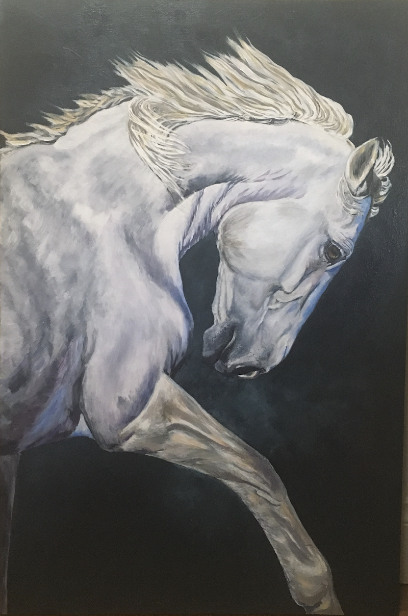 (CreativeWork) Magnificence by Jan Henderson. acrylic-painting. Shop online at Bluethumb.