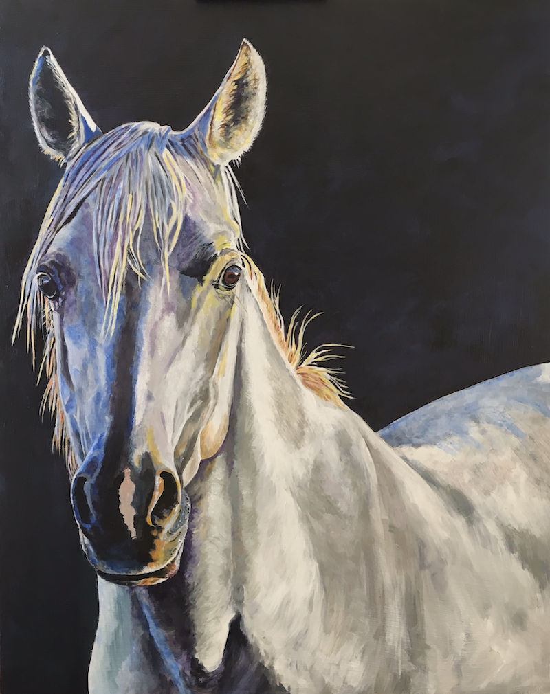 (CreativeWork) Arabian Sunrise by Jan Henderson. acrylic-painting. Shop online at Bluethumb.