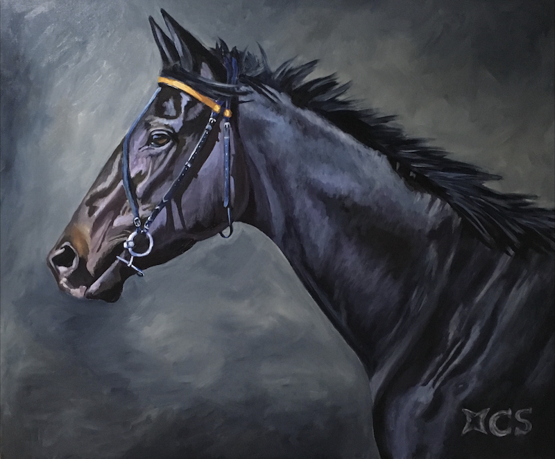 (CreativeWork) Midnight Rendezvous  by Jan Henderson. arcylic-painting. Shop online at Bluethumb.