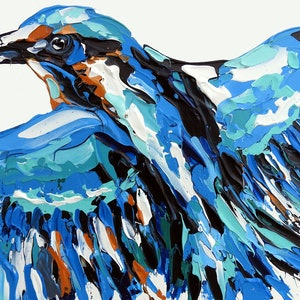 (CreativeWork) Kingfisher by Lisa Fahey. acrylic-painting. Shop online at Bluethumb.